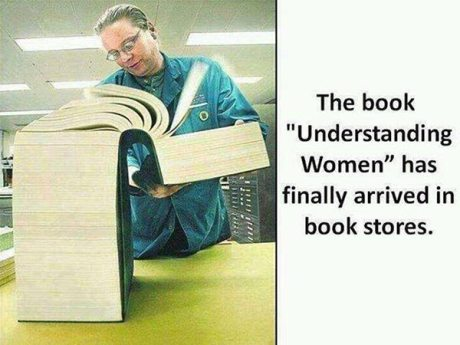 "The Book ""Understanding Women"" has finally arrived in book stores."