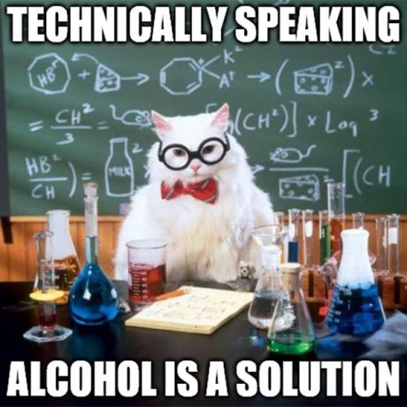 Technically speaking, Alcohol is a solution