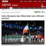 BBC News Reports Team Ireland is Team India