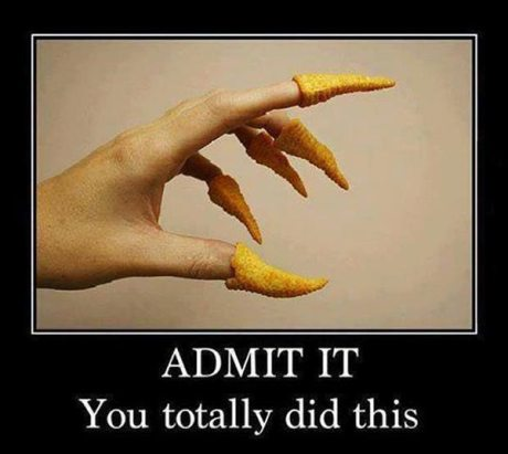 Bugles Snacks as Fingernails: Admit it. You totally did this.