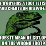 Cheater with a Foot Fetish