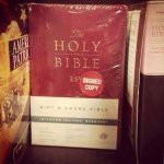 """The Holy Bible: """"Signed Copy"""""""