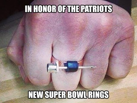 In Honor of the Patriots, New Super Bowl Rings