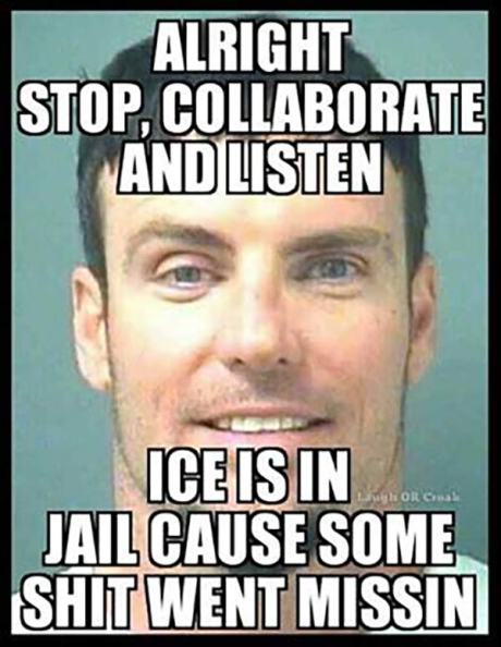 Alright, Stop. Collaborate and Listen. Ice was in Jail 'cause some shit went missin'...