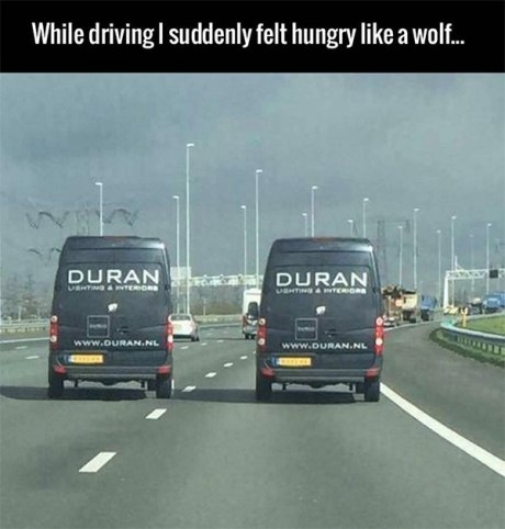 While driving, I suddenly felt Hungry Like a Wolf... (Duran Duran)