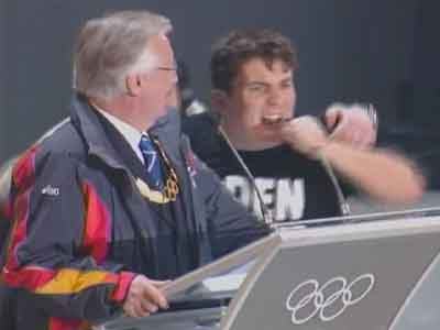 20060227 - Golden Palace infiltrates Winter Olympics Closing Ceremonies - Courtesy Unknown (submitted via web)