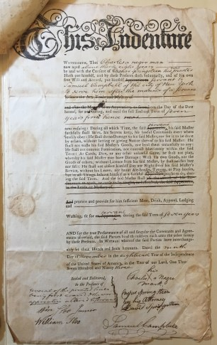 First of two indentures to Samuel Campbell, New-York Historical Society.