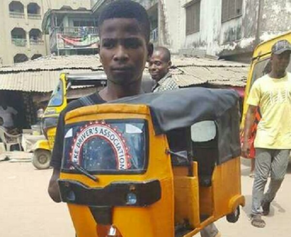 YOUNG GENIUS! SEE THE KEKE NAPEP MANUFACTURED BY A BOY IN ABA (PHOTOS)