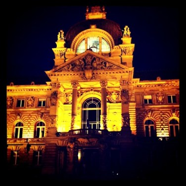 Palais du Rhin by night