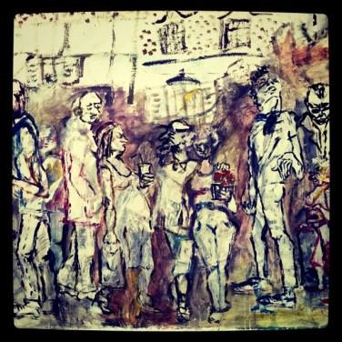 Nouvelle peinture rue de l'aimant à Strasbourg par Maria Luchankina