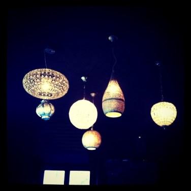 "Luminaires au bar ""les abbatoirs"" Strasbourg"