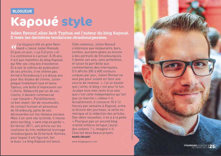 blog Strasbourg magazine interview jack typhus
