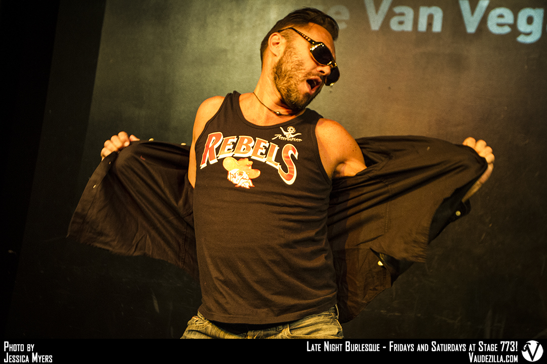 Vince Van Vegas boylesque des Pin Up Alsace