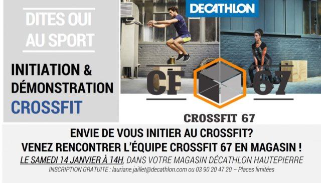 Evenement Decathlon HAUTEPIERRE FITNESS BOX salle de CrossFit Strasbourg