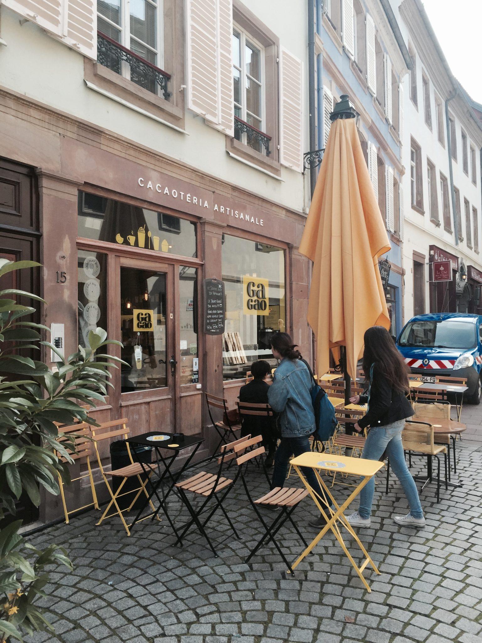 gagao gaufre midi terrasse trolley Strasbourg