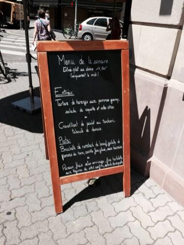 Toques du coin plat du jour Strasbourg restaurant place de Bordeaux
