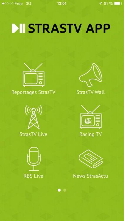 applis mobile strasbourg TCHAPP STRASTV DNA STRASBOURG LIVE 3