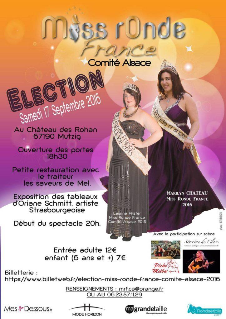 Miss Ronde France Comité Alsace 2016 affiche