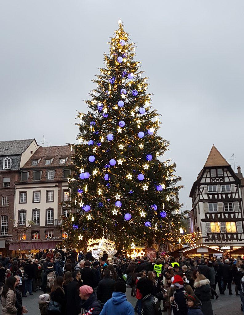 sapin marché de Noël de Strasbourg