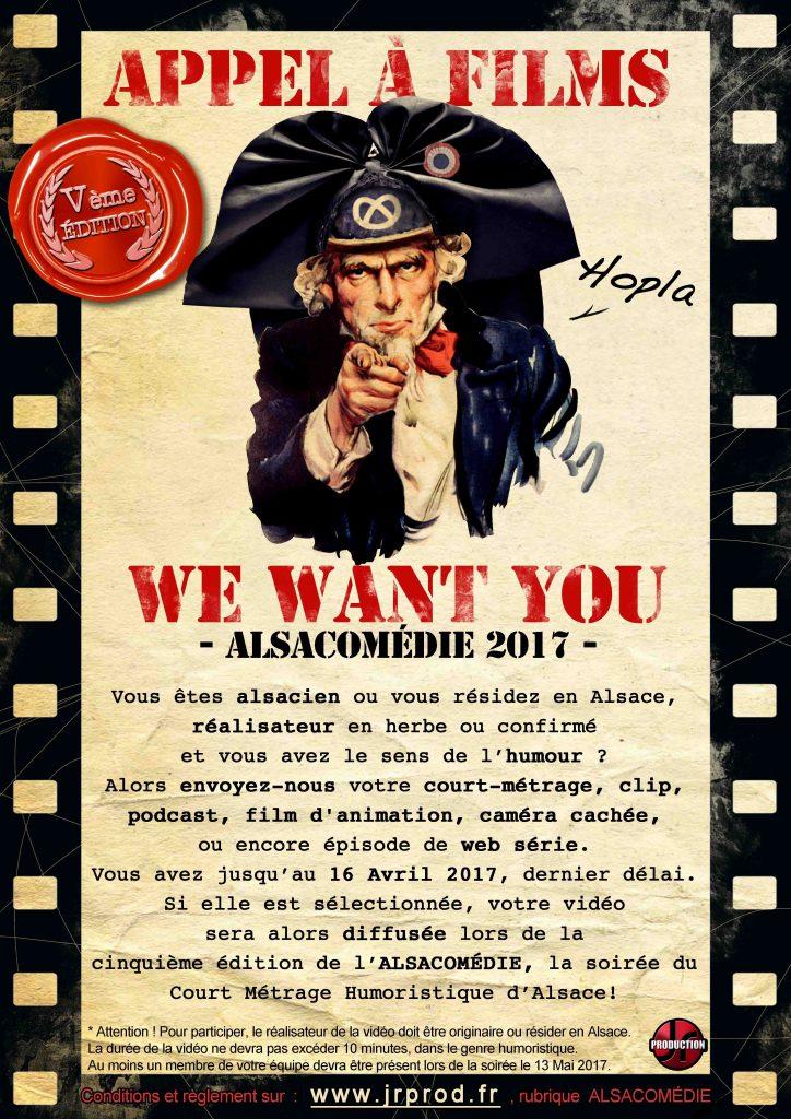 Alsacomédie court-métrage Alsace humour appel recherche