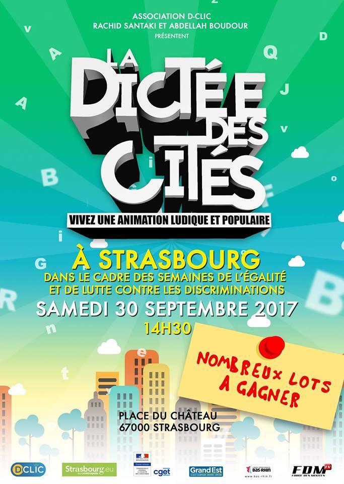 La Dictée Des Cités Strasbourg 2017 place de château cathédrale