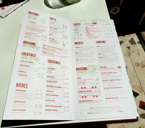 TZATZI Strasbourg restaurant libanais méditerranéen turc grec rue sainte barbe