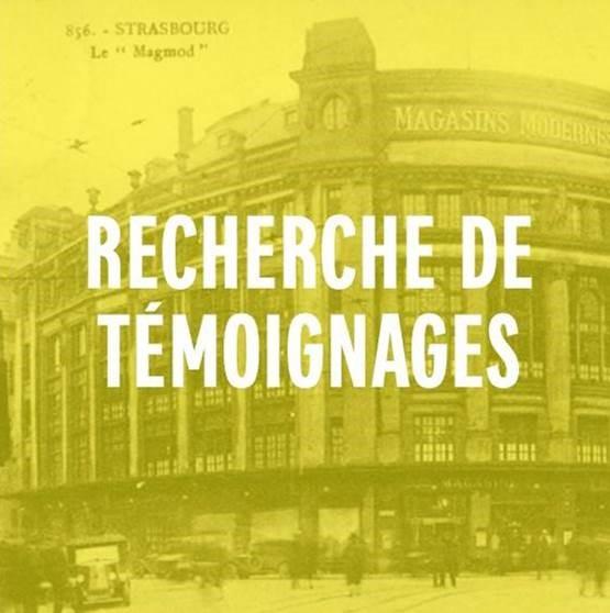 Les GALERIES LAFAYETTE Strasbourg recherche des témoignages pour la vidéo de ses 100 ans