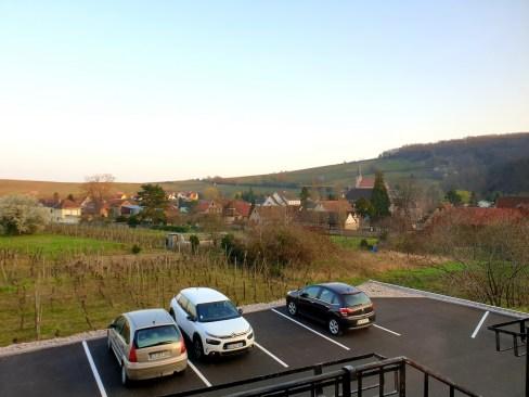 Le Kastelberg hôtel restaurant Andlau Alsace route des vins vue