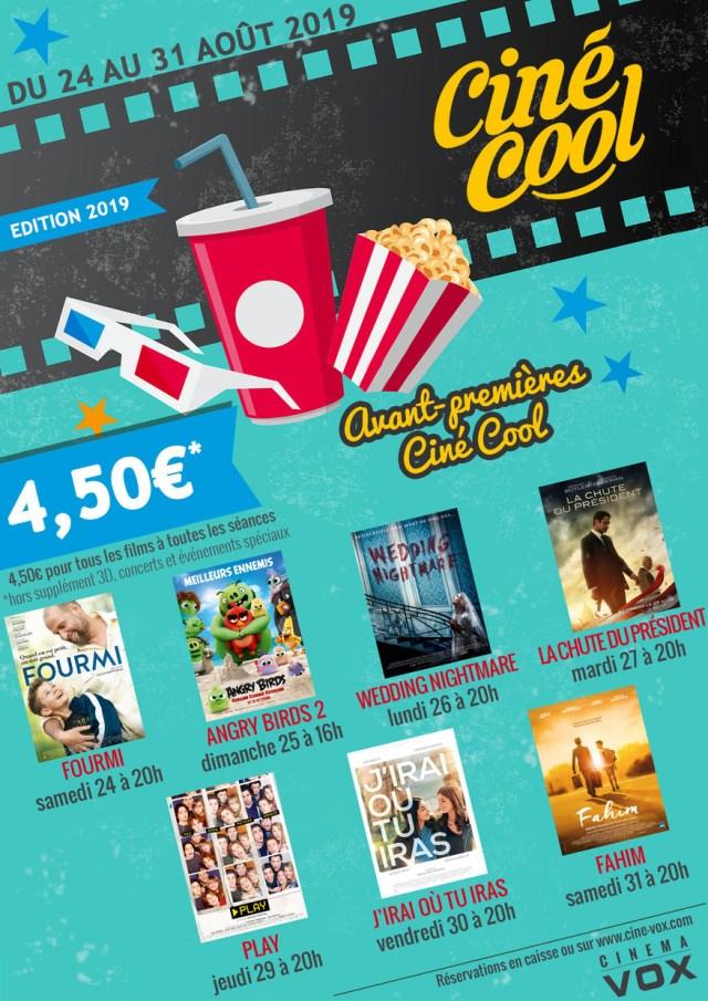 Ciné cool 2019 cinéma vox Strasbourg