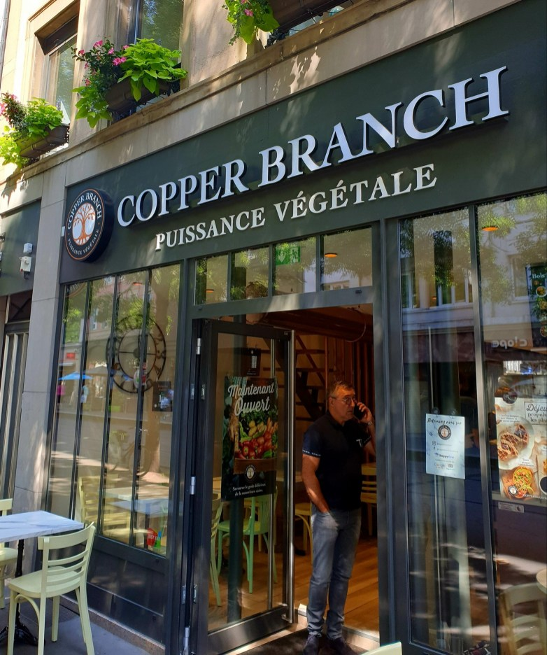 Copper Branch fast food vegan Strasbourg entrée
