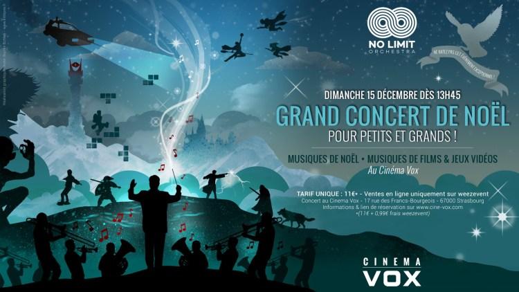 Concert de Noël au Cinéma Vox - No Limit Orchestra
