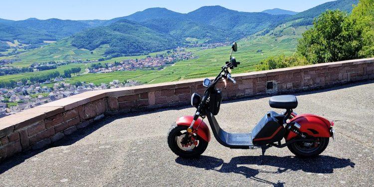 Médiéval Riqu'écoTour location scooters électriques vignes Riquewihr Sigolsheim haut rhin