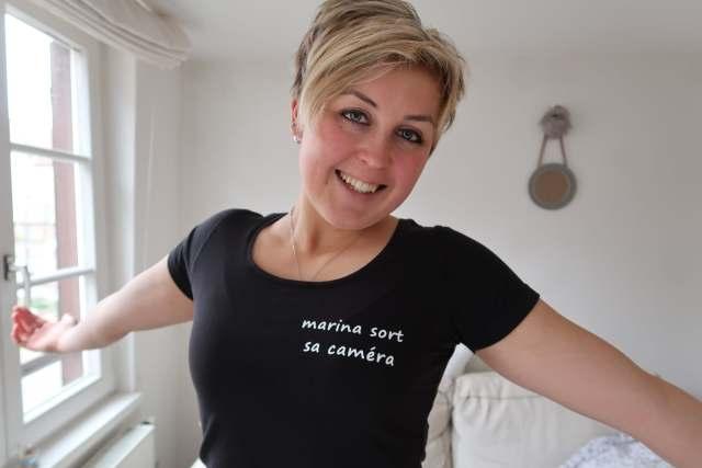 Marina sort sa caméra Strasbourg youtube portrait