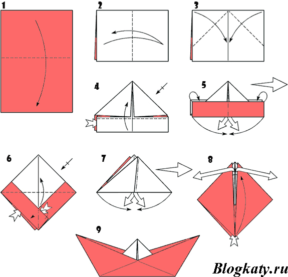 How to Make an Origami Boat Step by Step Instructions | Free ... | 553x575