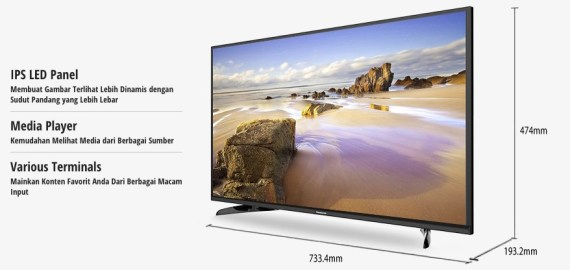 TH 32E305 TV LED Panasonic Indonesia