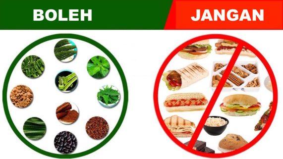 Makanan Yang Boleh dan Tidak Boleh bagi Penderita Diabetes