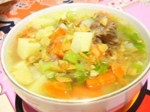 resep sop buntut daging sapi bango