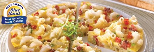 Resep Omelet Macaroni BlueBand