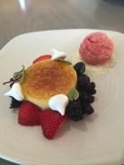 Creme Brulee and a Raspberry sorbet