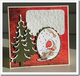 , Kontynuuję sezon kartek świątecznych…