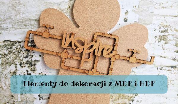 MDF i HDF, Elementy do dekoracji z MDF i HDF