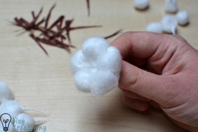 jak zrobić kwiaty bawełny