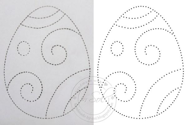 wzór rysowany i cyfrowy - porównanie