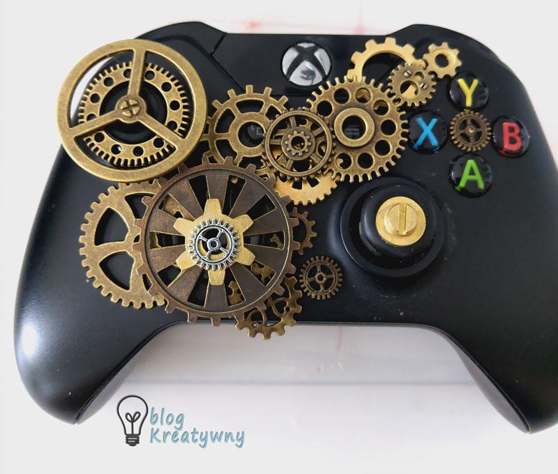 steampunkowy gamepad - kompozycja