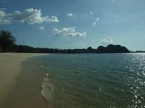 Plaża Tunjung Rhu na południe Część hotelowa.
