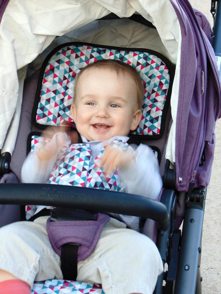 wózek dziecięcy x-lander zadowolone dziecko