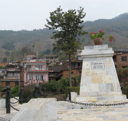 Where the statue of PN Shah once stood
