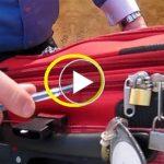 Nézd, hogyan nyitják ki a tolvajok a bőröndöket a reptéren, a lakat rajtamarad!