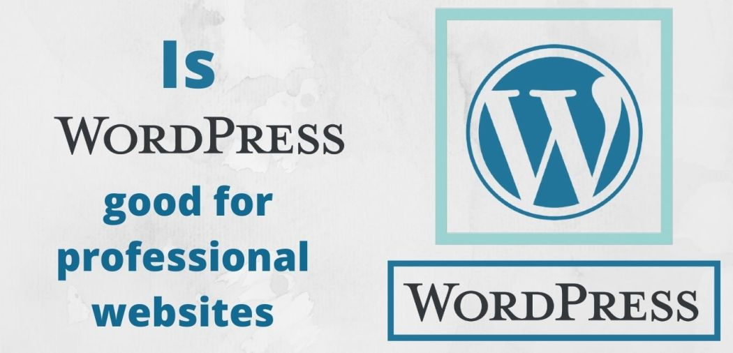 WordPress good for professional websites