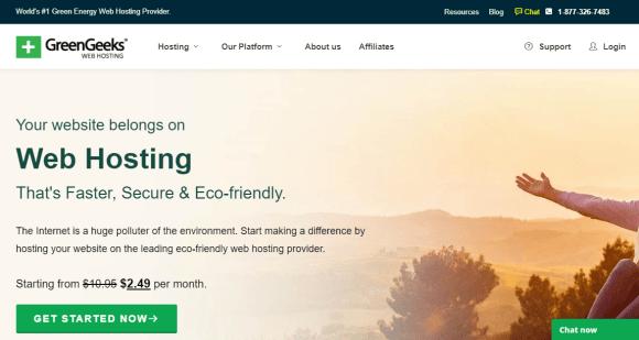 GreenGeeks web hosting services